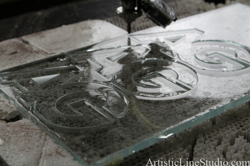 water jet glass cutting process
