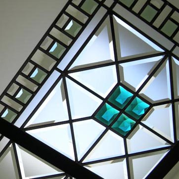 The Emerald Star - leaded glass skylight