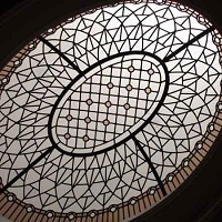 Paul - leaded glass eleptical dome