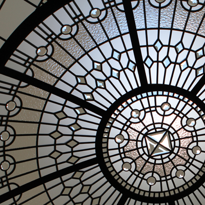The Diamond Path - neo classic leaded glass dome