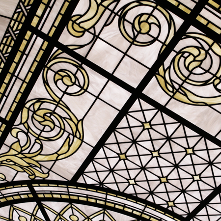 Scarsdale - white and ivory leaded glass skylight