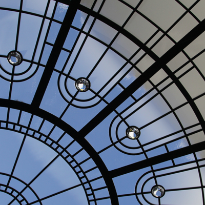 Fleeting Star - minimalistic leaded glass dome