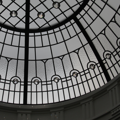 The Tri-City Dome - oval leaded glass dome