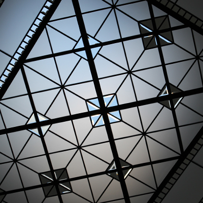 Aerial - Large leaded glass skylight