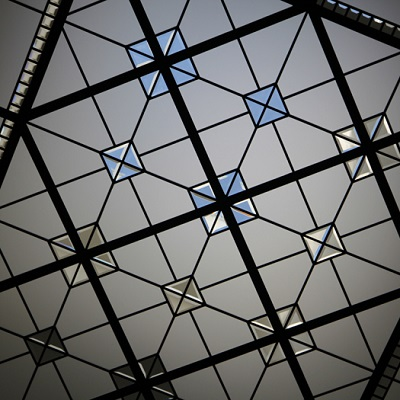 Infinity Glass- large geometrical leaded glass skylight