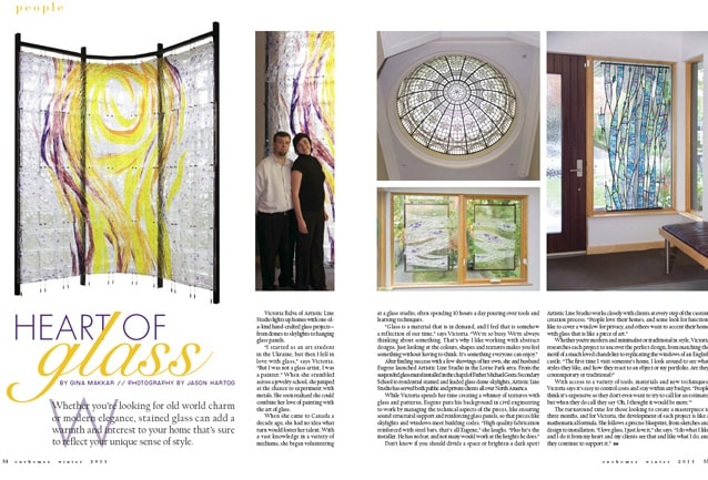 Leaded glass artists Victoria Balva and Eugene Bakumenko