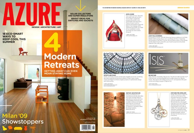 Stained and leaded glass dome has been featured in the design source of Azure magazine
