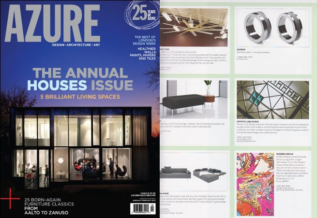Stained and leaded glass skylight has been featured in the design source of Azure magazine