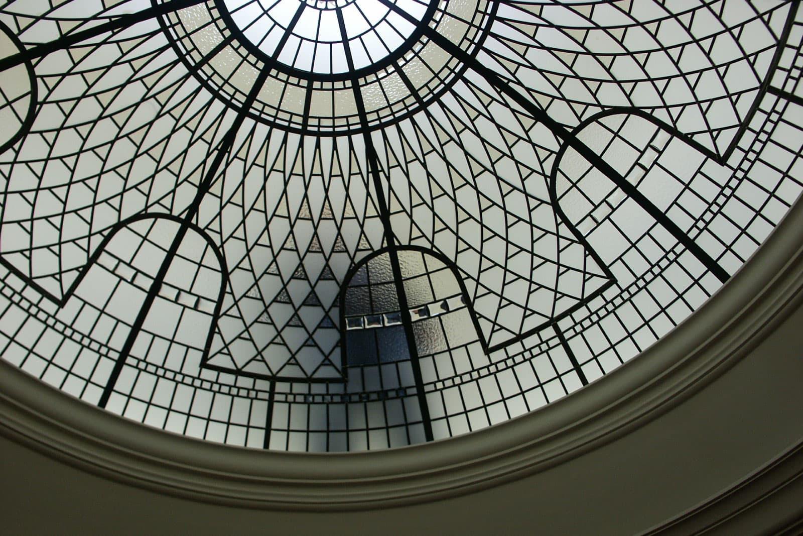 leaded-glass-dome-maintanence