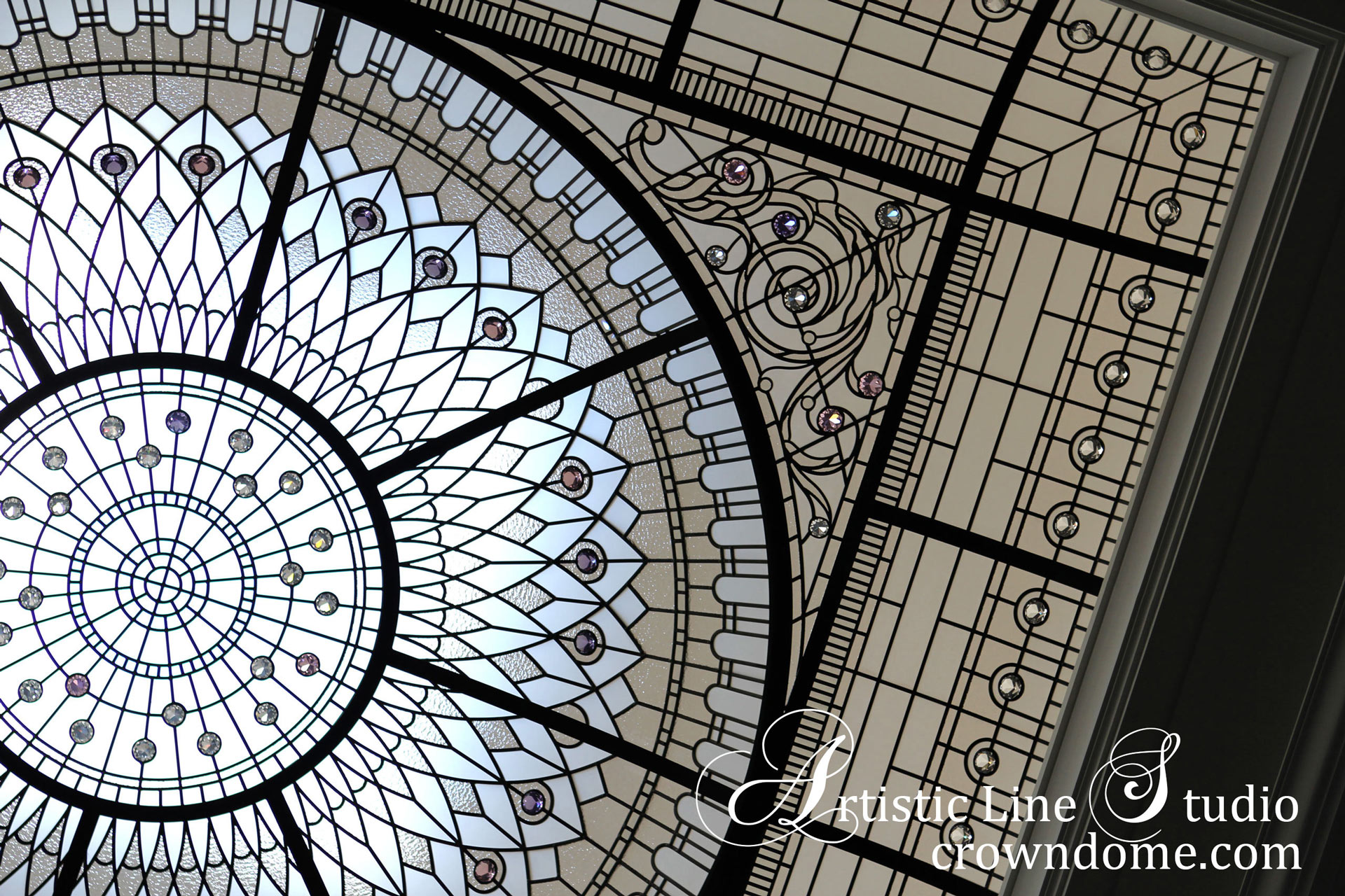 Stained and leaded glass dome breathtaking
