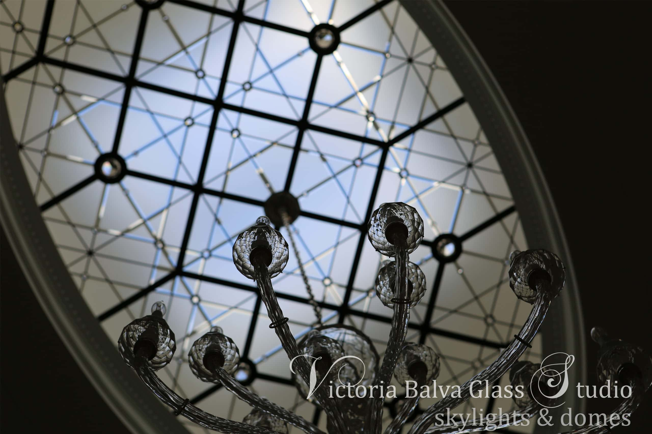 Daniela-raulph-lauren-ceiling-fixture-in-crystal-stained-glass-oval-skylight-ceiling