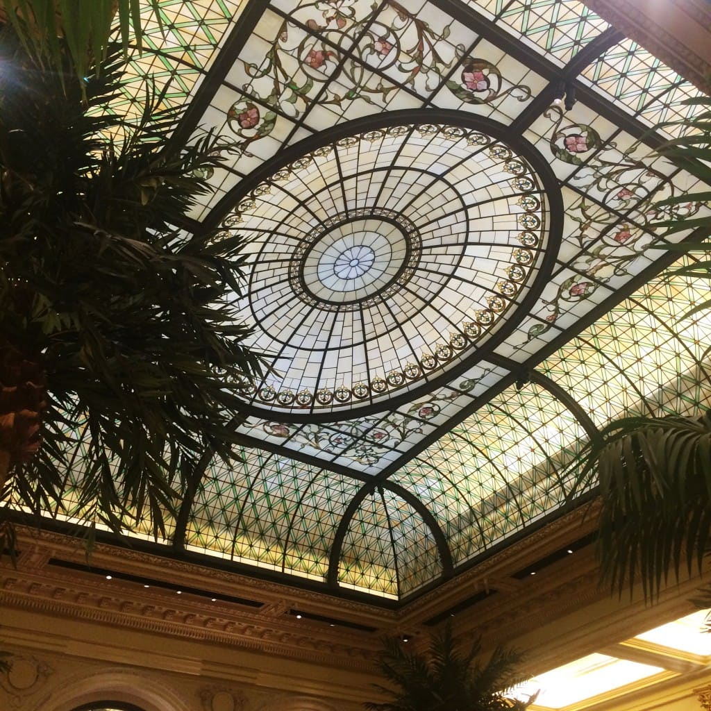 Neoclassical stained glass domed ceiling for the atrium of the Plaza Hotel