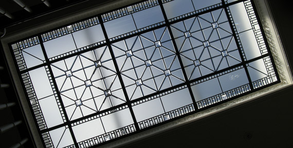 Beveled leaded glass skylight ceiling Amedeo