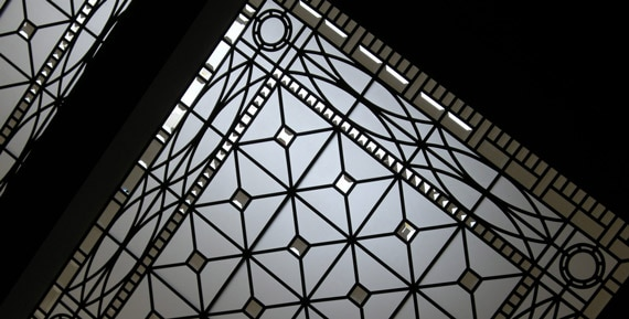 Triple leaded glass skylight ceiling Hogg's Hollow