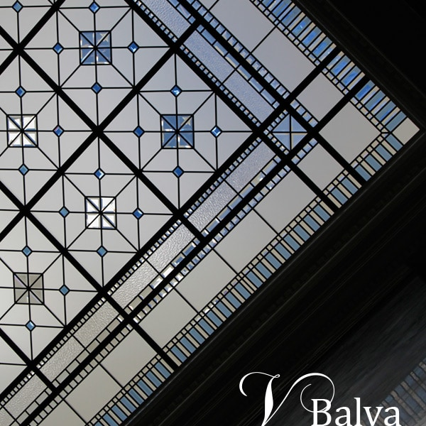 Beveled leaded glass skylight Scent of London