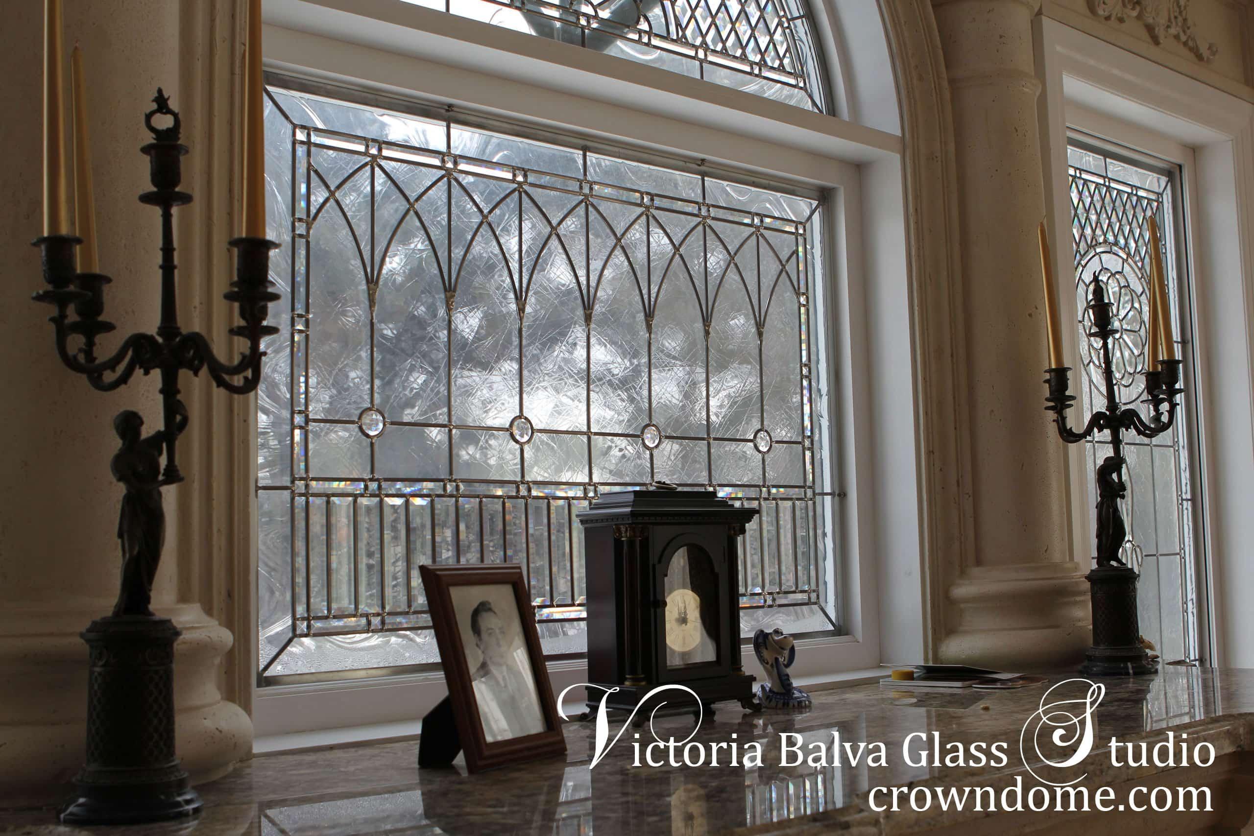 Beautiful Beveled Leaded Glass Windows Set Alexei Victoria Balva