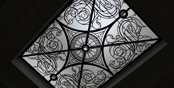 Decorative leaded glass skylight ceiling Germana