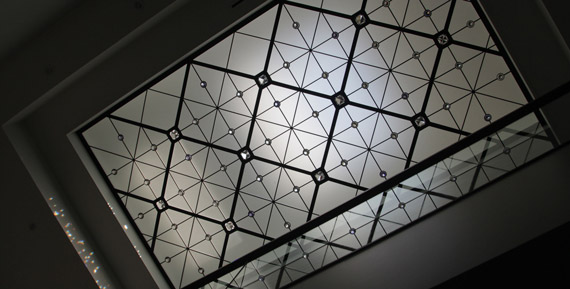 Contemporary leaded glass skylight Caprice