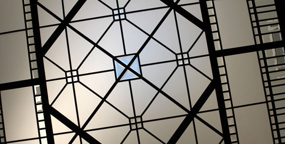 Small leaded glass skylight ceiling Larissa