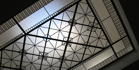 Leaded glass skylight ceiling York Mills