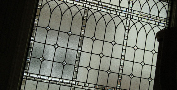Classic leaded beveled glass window Old English Charm