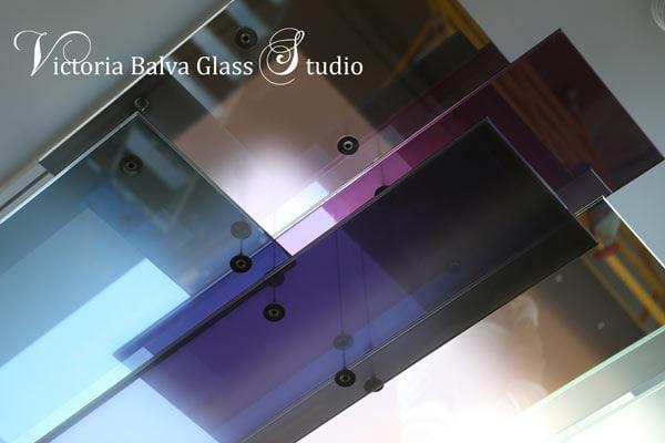 Contemporary minimalistic laminated glass panels