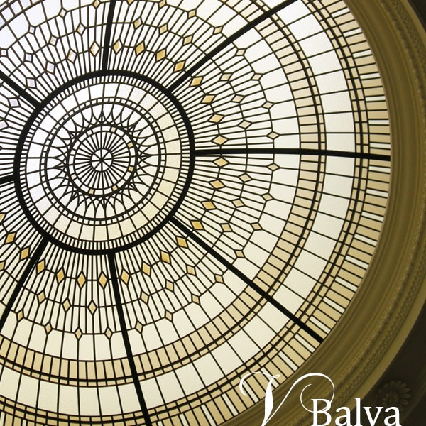 Beveled stained leaded glass dome Summerhill