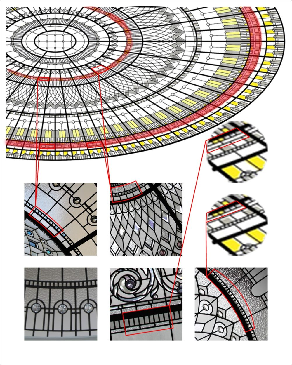 stained-glass-dome-design-comparison-copyright-infrigement-copycat-original-srtwork