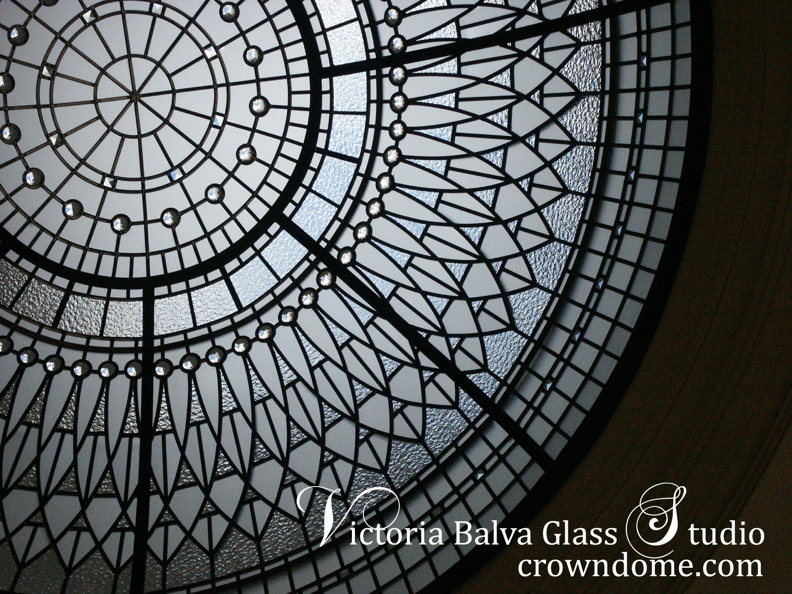 Beautiful stained and leaded glass dome for a custom built residence